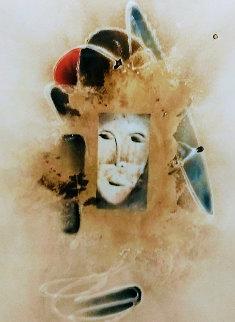 Untitled Painting 1983 45x35 Original Painting - David Schluss
