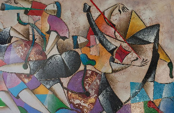 Untitled Painting 2005 50x73 Super Huge  Original Painting - David Schluss
