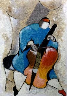 Cellist 1994 Limited Edition Print by David Schluss
