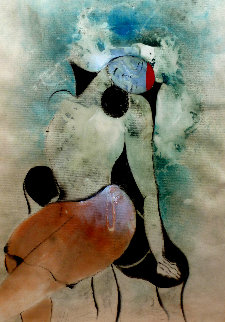Untitled Portrait of a Woman 1980 44x33  Huge Works on Paper (not prints) - David Schluss