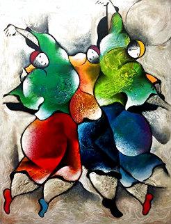 Three Graces 1996 Huge Limited Edition Print - David Schluss