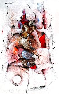 Book Nude 1990 40x25 Super Huge Original Painting - David Schluss