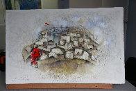 Jericho 1990 25x40 Super Huge Works on Paper (not prints) by David Schluss - 1