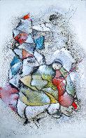 Le Violoniste 1989 40x25 Original Painting by David Schluss - 0