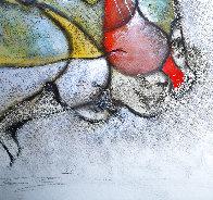 Le Violoniste 1989 40x25 Original Painting by David Schluss - 1