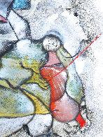 Le Violoniste 1989 40x25 Original Painting by David Schluss - 3