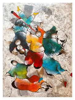 Untitled Painting  1990 72x48 Huge Original Painting - David Schluss