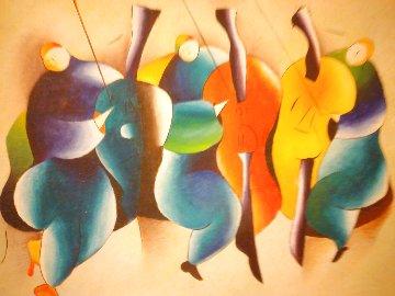 Chorus 1995 47x78 Huge Original Painting - David Schluss