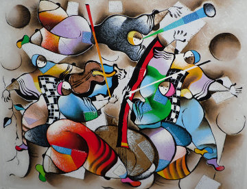 Musicians on Holiday 2002 Limited Edition Print by David Schluss