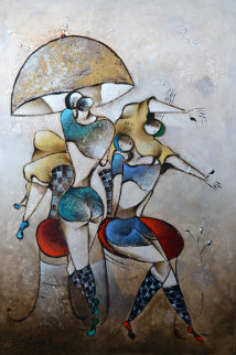 Divine Celebration 2005 77x54 Original Painting - David Schluss
