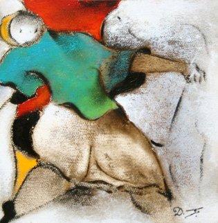 Party 12x13 Original Painting - David Schluss