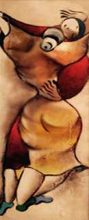 Waltz 55x26 Original Painting - David Schluss
