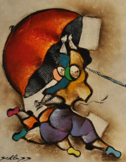 Ruby Parasol 2004 28x24 Original Painting by David Schluss