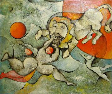 Circus Act 39x46 Original Painting by David Schluss