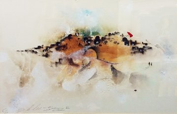 Untitled (Early Painting) 1986 24x37 Original Painting by David Schluss