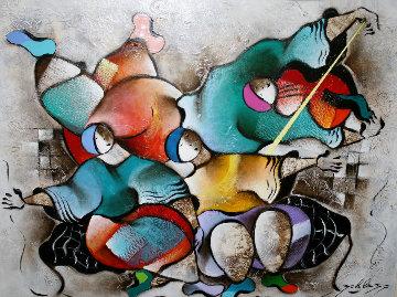 Music of the Heart 39x49 Huge Original Painting - David Schluss