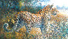 Leopard in the Vineyards 1996 35x20 Original Painting by Bill Schmidt - 0