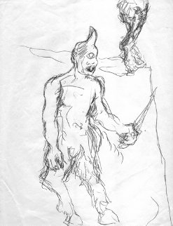 Untitled Drawing 1991 10x8 Drawing - Julian Schnabel