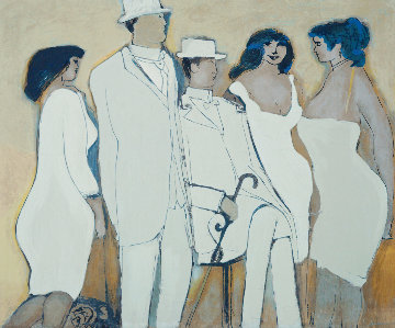 Ladies in White Limited Edition Print - David Schneuer