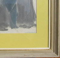 Untitled (Five Jewish Gentlemen) Watercolor 30x16 Watercolor by David Schneuer - 5