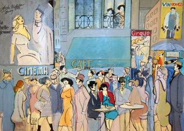 Cafe Dom 1987 36x46 Limited Edition Print - David Schneuer