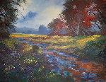 Shady Creek 2005 45x57 Original Painting - Michael Schofield