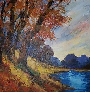 Waikato Valley 2005 49x49 Huge Original Painting - Michael Schofield