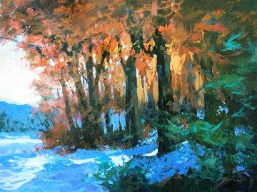 Last Days on the Mountain 25x19 Original Painting - Michael Schofield