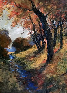 Untitled Landscape 2013 54x42 Super Huge Original Painting - Michael Schofield