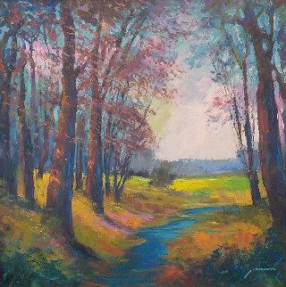 Lovely Skies 44x40 Huge Original Painting - Michael Schofield
