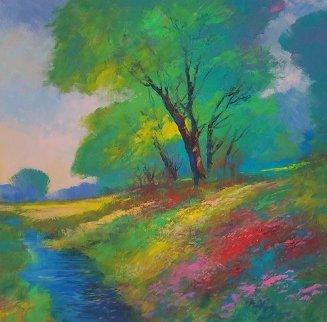 Splendor in Spring 48x49 Original Painting - Michael Schofield