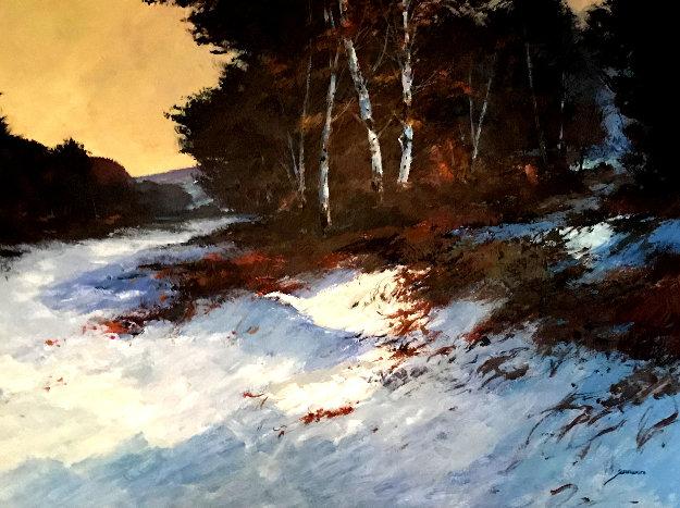 Winter Birch 40x51 Original Painting by Michael Schofield