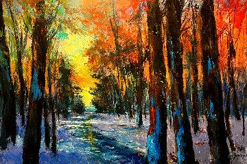 Forest 2014 34x50 Original Painting - Michael Schofield