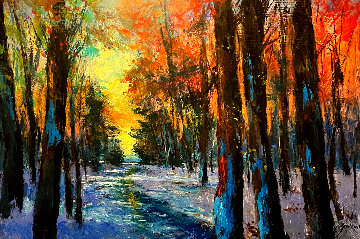 Forest 2014 34x50 Original Painting by Michael Schofield