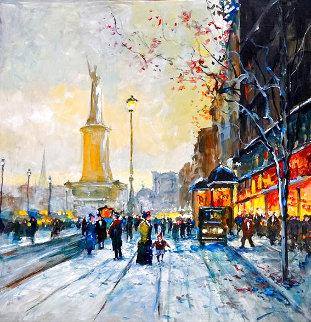 Urban Landscape 30x30 Huge Original Painting - Michael Schofield