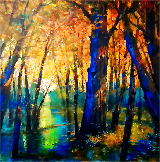 Untitled Landscape 2014 40x40 Super Huge Original Painting - Michael Schofield
