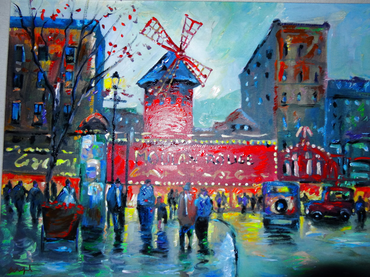 Paris Moulin Rouge AP 2019 Embellished   Limited Edition Print by Michael Schofield