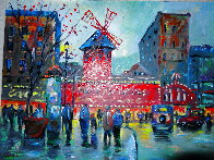 Paris Moulin Rouge AP 2019 Embellished   Limited Edition Print by Michael Schofield - 0