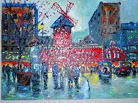 Paris Moulin Rouge AP 2019 Embellished   Limited Edition Print by Michael Schofield - 2