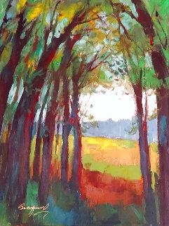 Untitiled Landscape 2008 24x18 Signed Twice Original Painting - Michael Schofield