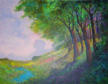 Rolling Hills 48x60 Super Huge Original Painting - Michael Schofield