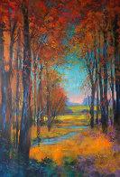 Untitled Landscape 2013 40x26 Original Painting by Michael Schofield - 0