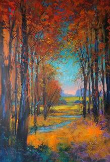Untitled Landscape 2013 40x26 Original Painting by Michael Schofield
