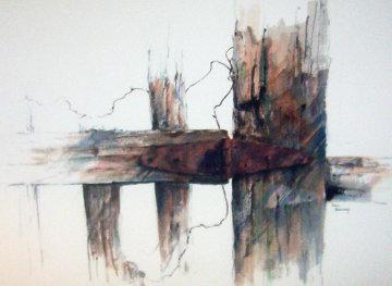 Hinge Watercolor 29x37 Watercolor - Michael Schofield