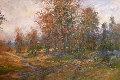 Untitled Fall Landscape 52x72 Original Painting - Michael Schofield