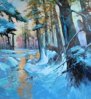 Deep in the Winters Grip 2013 75x70 Original Painting - Michael Schofield