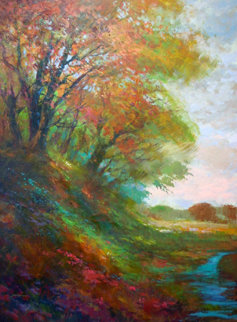 Open Meadow Original Painting by Michael Schofield