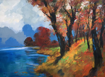 Early Evening Memories 40x50 Huge Original Painting - Michael Schofield