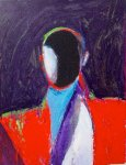 Entity #10 1986 37x30 Works on Paper (not prints) - Fritz Scholder