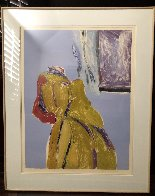 Mystery Woman Monotype 1986 58x48 Super Huge Works on Paper (not prints) by Fritz Scholder - 1